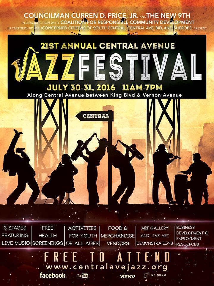 Central Avenue Jazz Festival Flyer