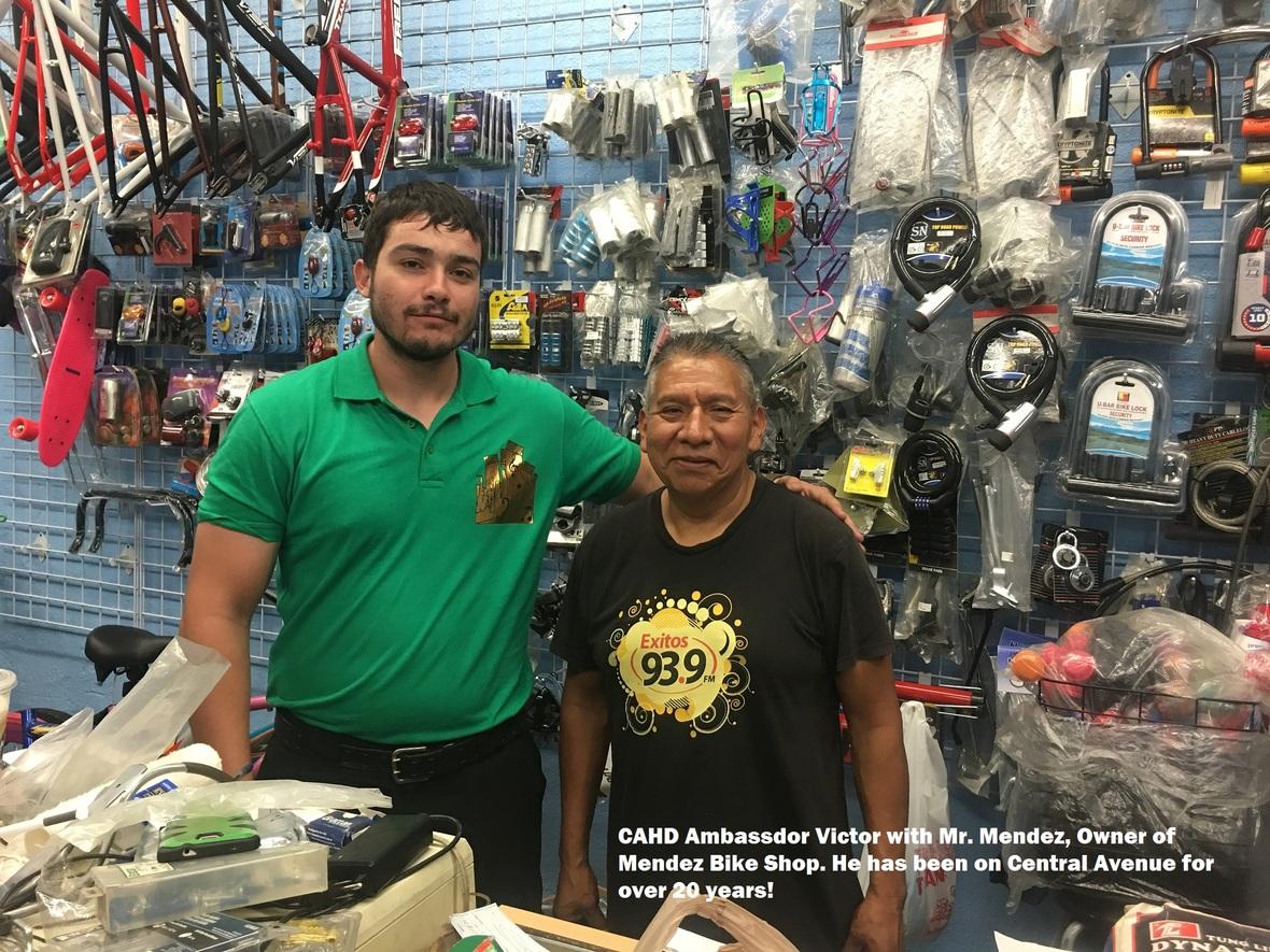 Ambassador Victor and Mendez Bikes