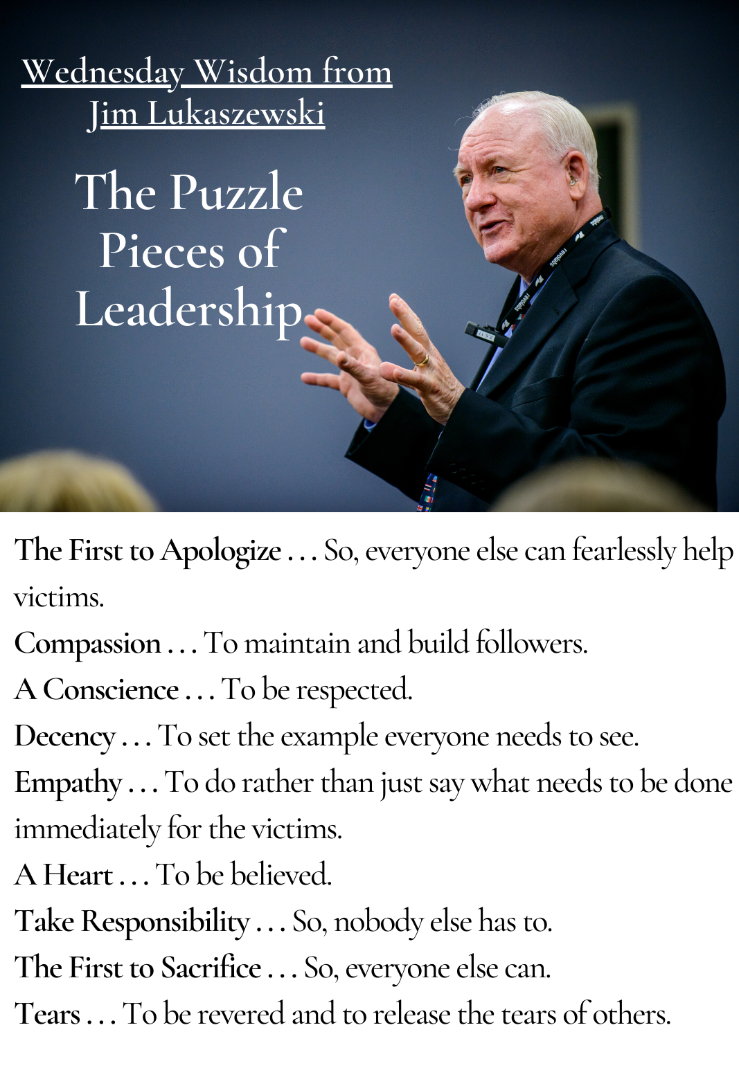 Wednesday Wisdom  2 - Puzzle Pieces of Leadership