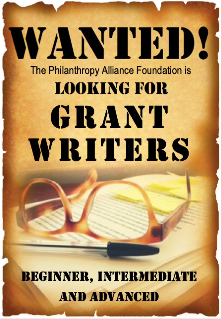Wanted - Grant Writers