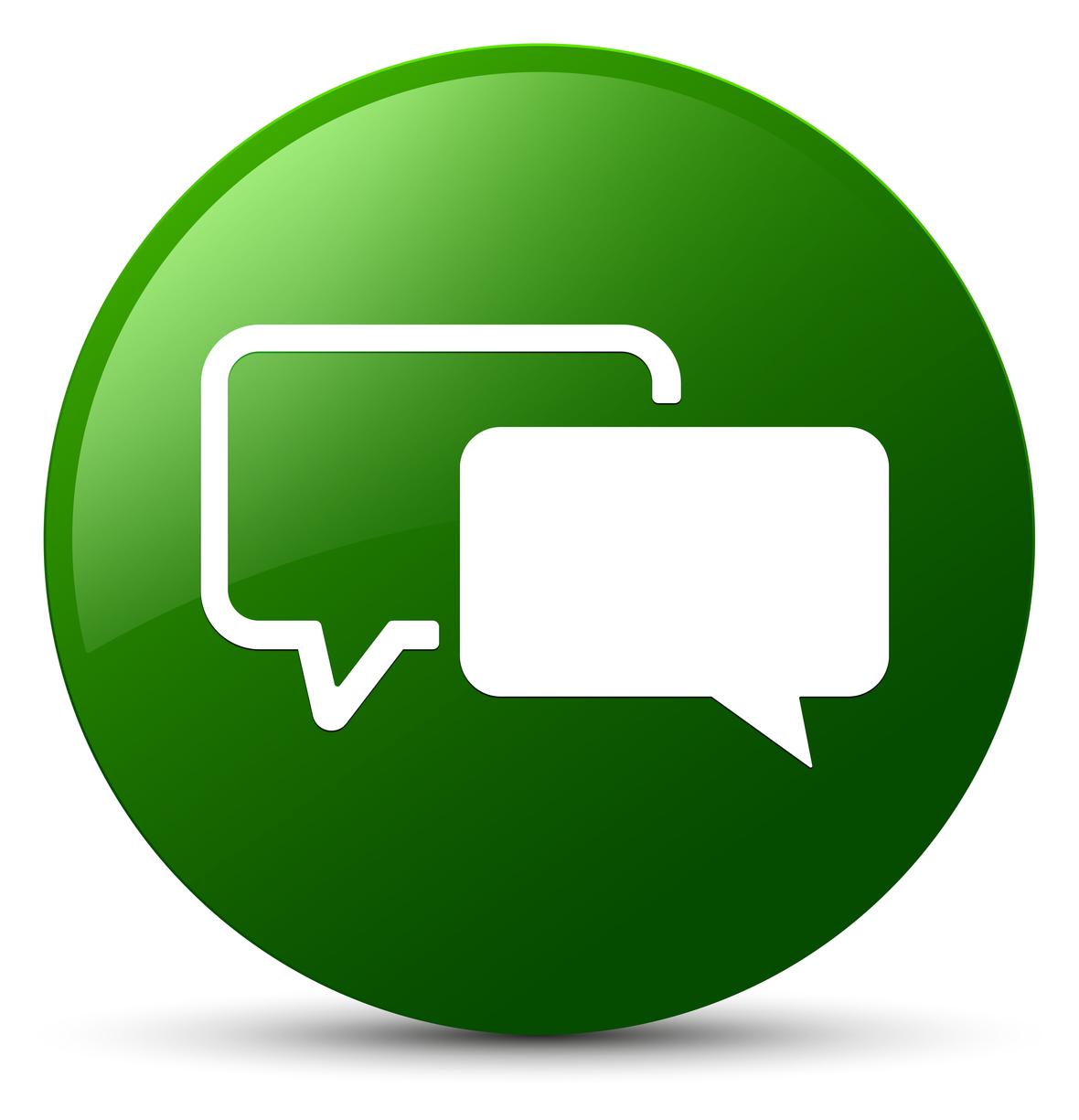 bigstock-Testimonials-Icon-Green-Round--209465365
