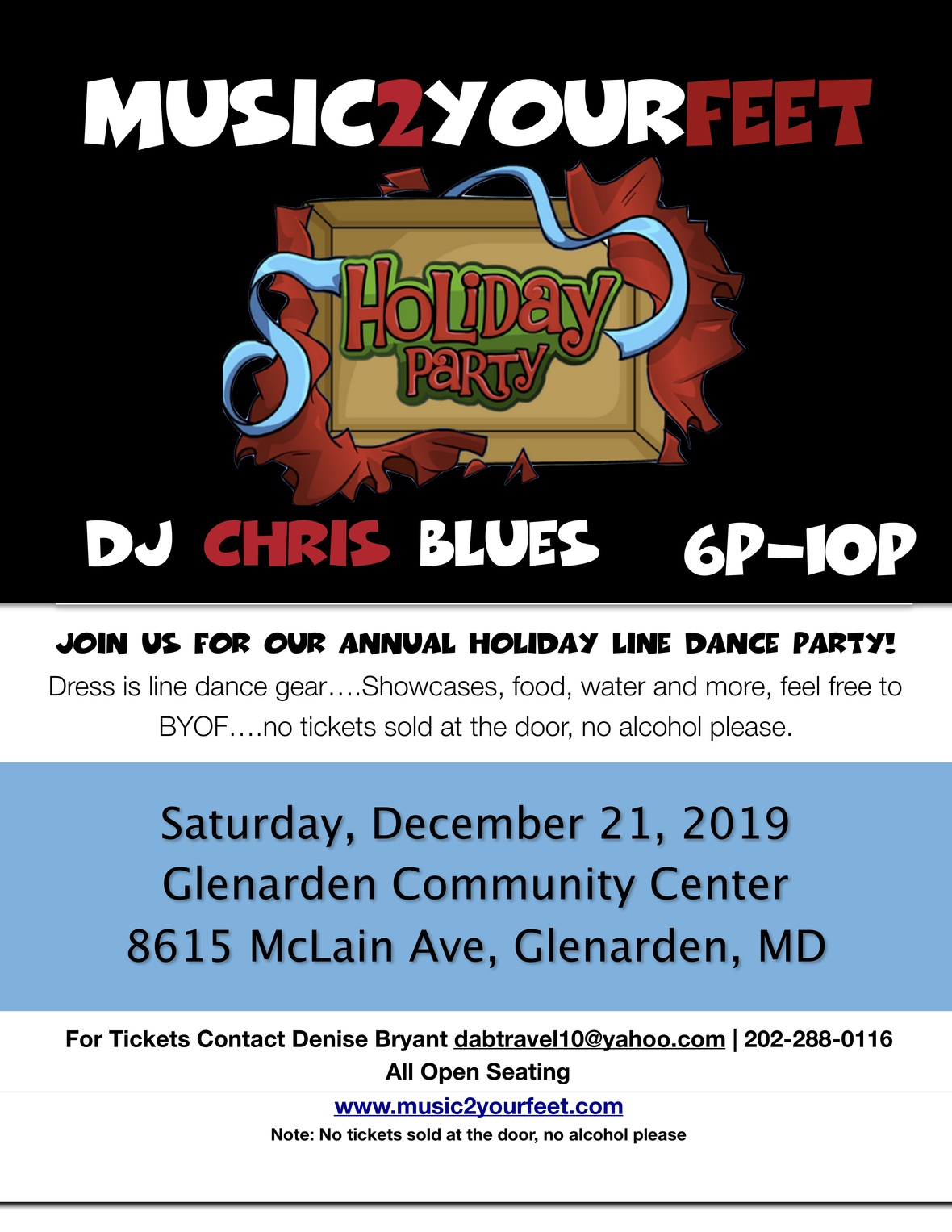M2YF Holiday Line Dance Party 2019